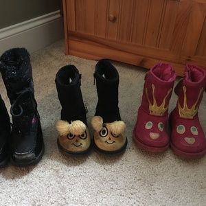 Lot of 3 toddler boots, size 7t